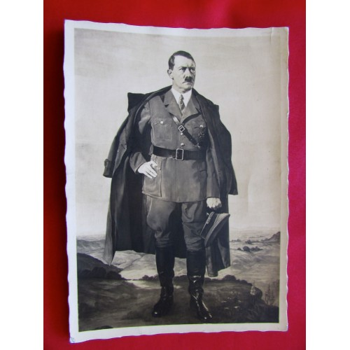 Hitler Portrait Postcard  # 5989