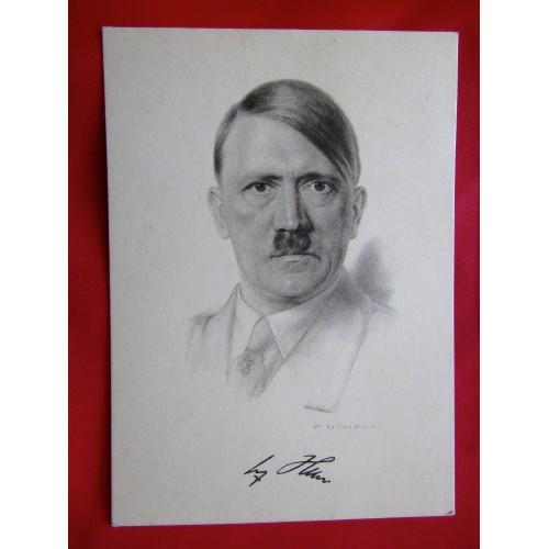 Adolf Hitler Postcard  # 5992