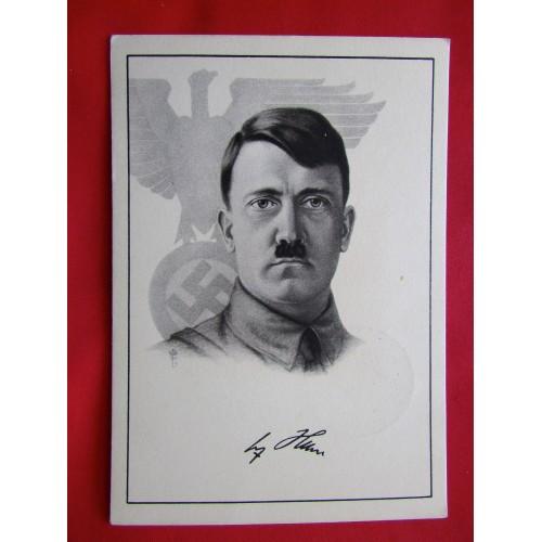 Adolf Hitler Postcard # 6016