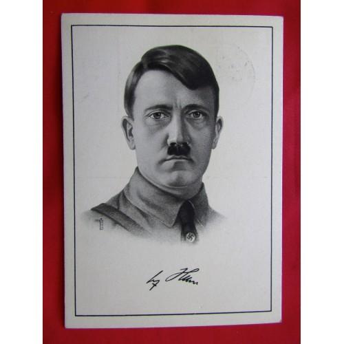 Adolf Hitler Postcard # 6018