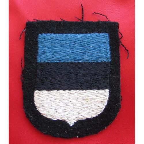 Waffen SS Estonia Volunteer Sleeve Shield # 6043