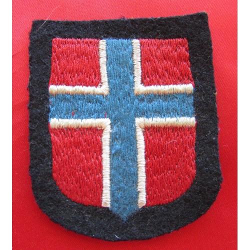 Waffen SS Norwegian Volunteer Sleeve Shield Insignia # 6046