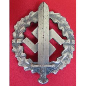 SA Sports Badge in Silver # 6077
