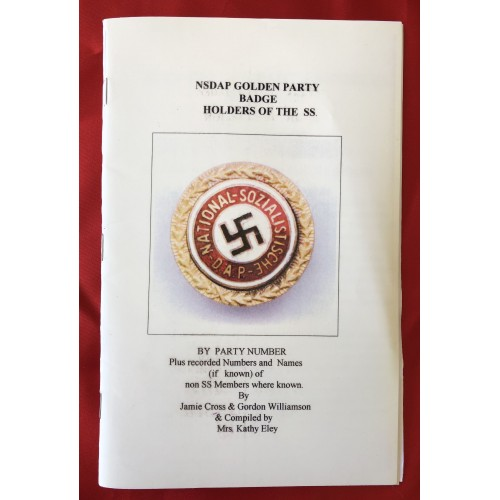 NSDAP Golden Party Badge Holders of the SS   # 6219