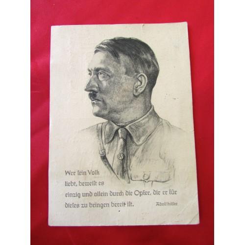 Adolf Hitler Postcard  # 6234