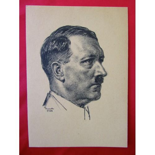 1938 Hitler Postcard # 6240