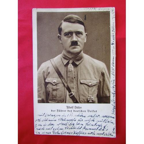 Adolf Hitler Der Führer Des Deutschen Volkes Postcard # 6246