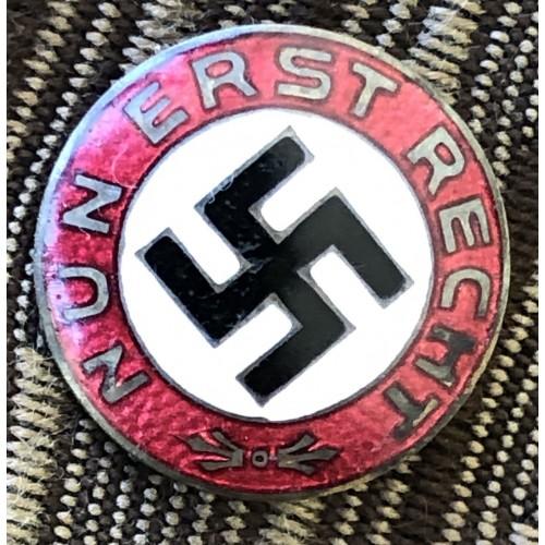 Nun Erst Recht Badge GES. GESCHÜTZT DESCHLER u. SOHN MÜNCHEN # 6269
