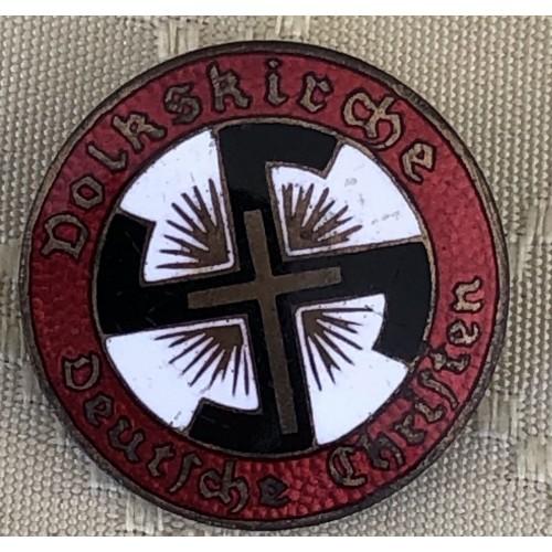 Deutsche Christen Volkskirche Badge  # 6285