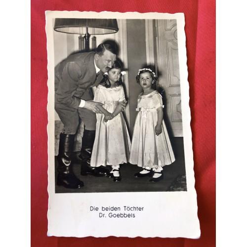 Die beiden Töchter Dr. Goebbels Postcard # 6369