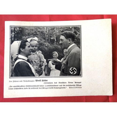 Hitler Roten Kreuzes Postcard # 6372