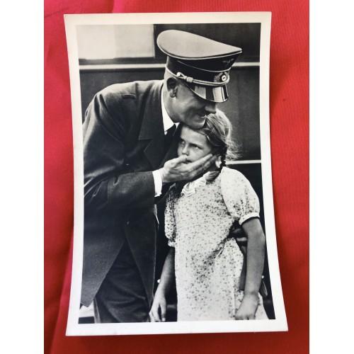 Hitler with girl Postcard  # 6379