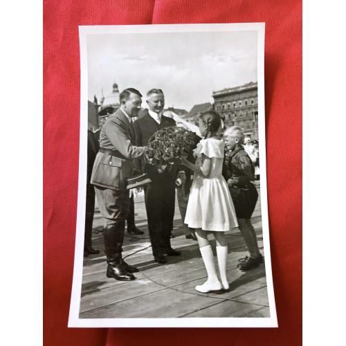 Der Führer und Dr. Schacht Postcard # 6385