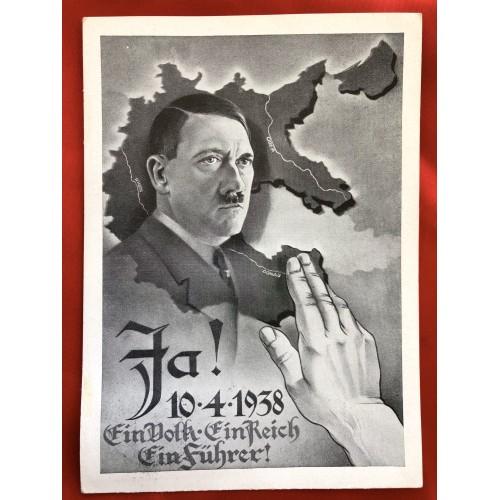 JA! Ein Volk Ein Reich Ein Führer Postcard # 6396