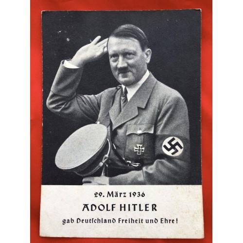 Adolf Hitler gab Deutschland Freitheit und Ehre ! Postcard # 6414