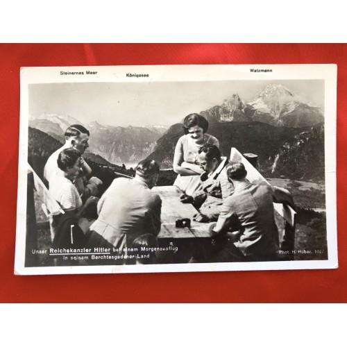 Unser Reichskanzler Hitler bel einem Morgenausflug in seinem Bertesgadener Land Postcard # 6434