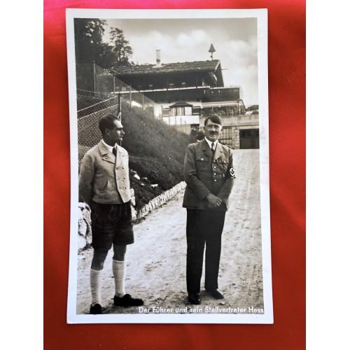 Der Führer und sein Stellvertreter Hess Postcard # 6438