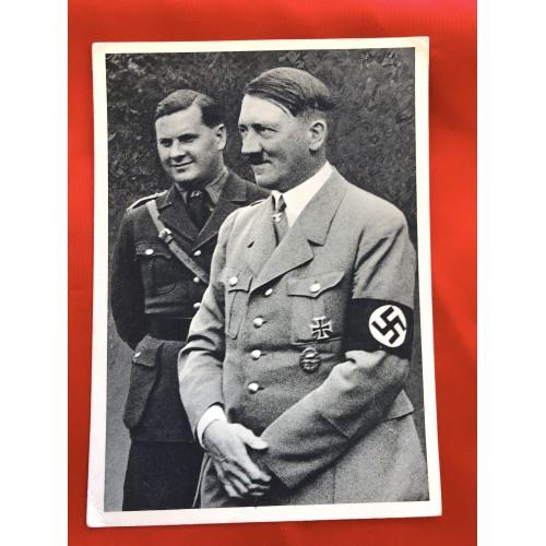 Reichskanzler Adolf Hitler und Reichsjugendführer Baldur von Schirach Postcard # 6440