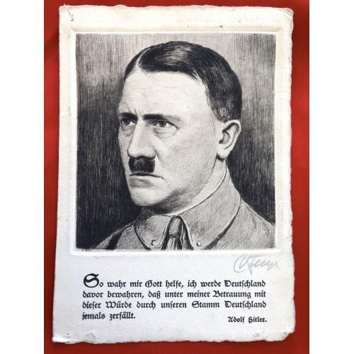 Adolf Hitler Postcard # 6443