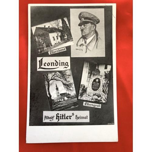 Leonding Adolf Hitler's Heimat Postcard # 6445