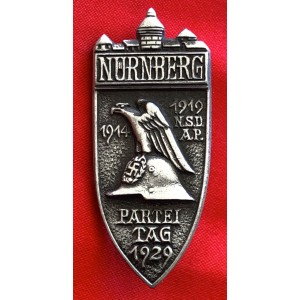 Nürnberg Party Day 1929 Badge # 6490