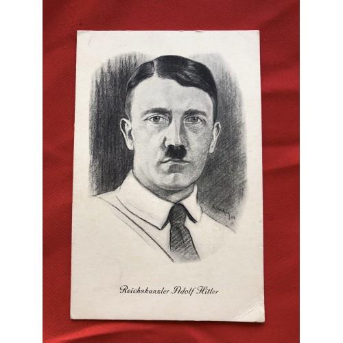 Reichskanzler Adolf Hitler Postcard  # 6506