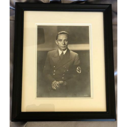 Goebbels Autographed Photo # 6561