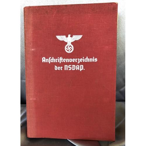 Anschriftenverzeichnis der NSDAP # 6582