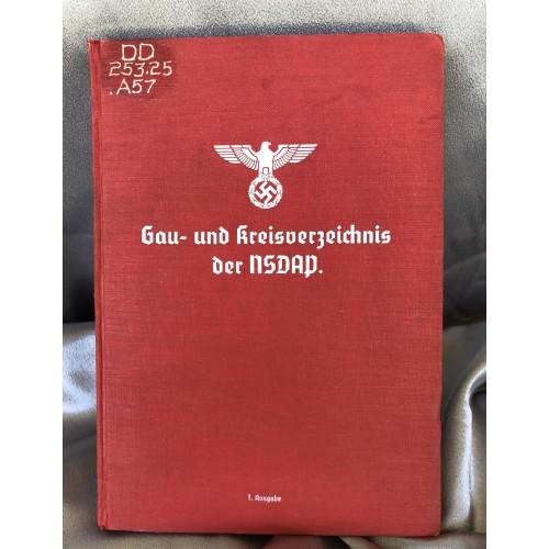 Gau und Kreisverzeichnis der NSDAP # 6584