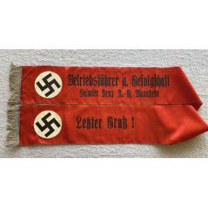 Daimler Benz A.G. Mannheim Funeral Sash  # 6655