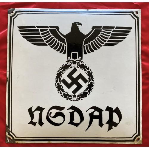 NSDAP Enamel Sign # 6667