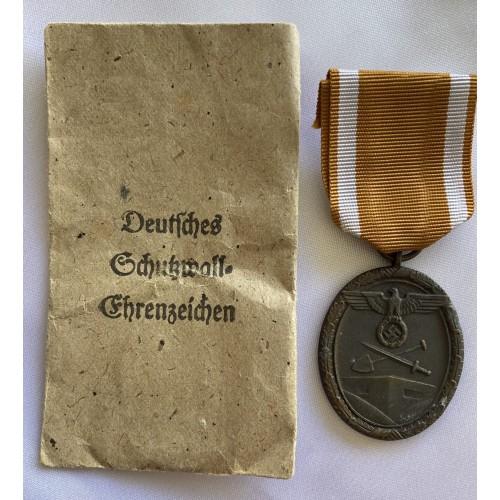 West Wall Medal envelope by Karl Poellath  # 6742