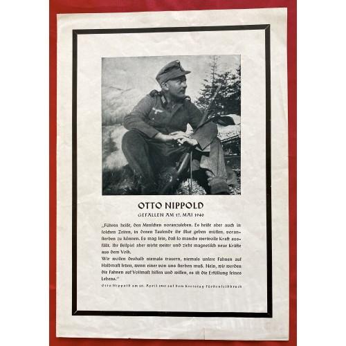 Otto Nippold Death Announcement  # 6754