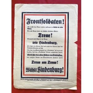 Hindenburg Campaign Flyer # 6757