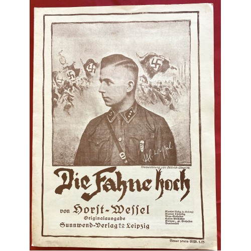 Horst Wessel Die Fahne Hoch Sheet Music  # 6764