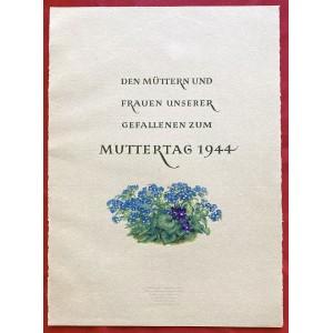 Den Mütter und Frauen Unserer Gefallenen zum Muttertag 1944 # 6783