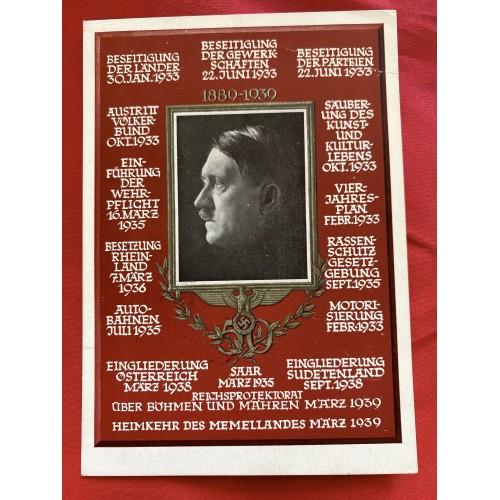 Hoffmann Hitler 50th Birthday Postcard # 6859