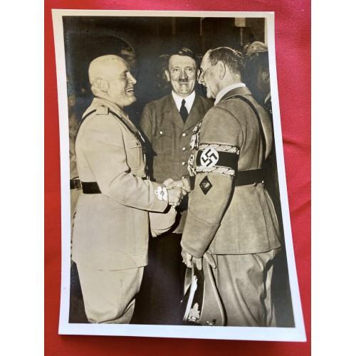Mussolini Hitler von Epp Postcard # 6875