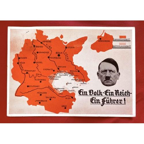 EIn Volk Ein Reich Ein Führer! Postcard # 6894