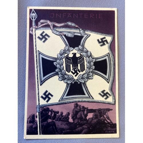 Die Siegreichen Fahnen und Standarten der Deutschen Wehrmacht Postcard # 6923