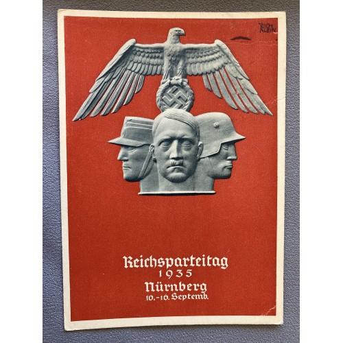 !(35 Reichsparteitag Nürnberg 10.-16. Septemb. Postcard # 6950