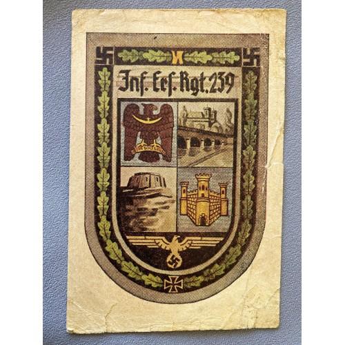 Inf. Erf. Rgt. 239 Feldpostkarte # 6980