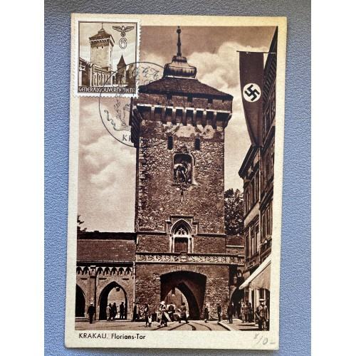 Krakau Florians Tor Postcard # 6992