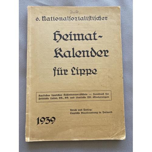 6. Nationalsozialistischer Heimat Kalender für Lippe 1939 # 7056
