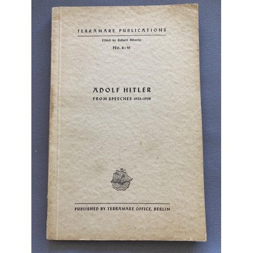 Adolf Hitler from Speeches 1933-1938 # 7101