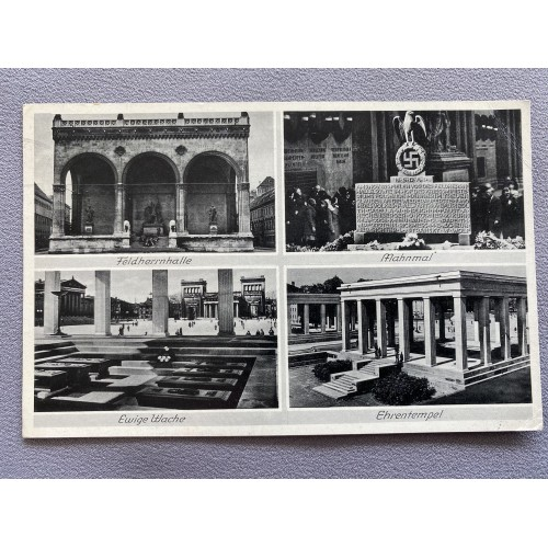 München Monuments Postcard