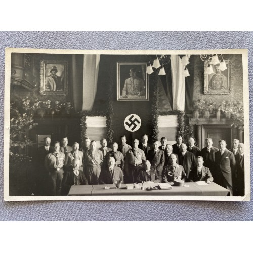 NSDAP Meeting Postcard # 7143