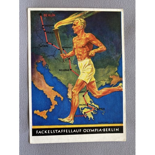 Fackelstaffellauf Olympia-Berlin Postcard # 7155