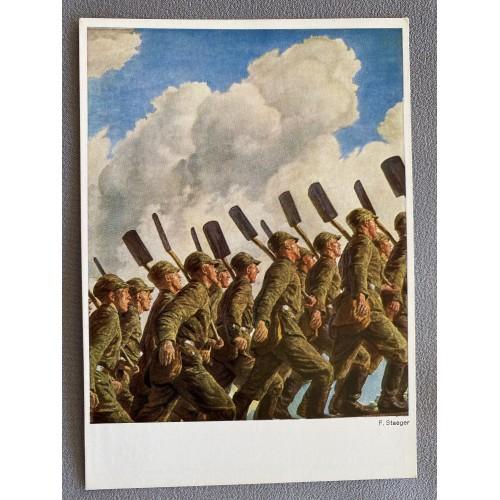 Wird Sind Die Werksoldaten Postcard # 7174