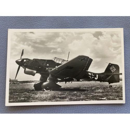 Unsere Luftwaffe JU 87 Postcard # 7218